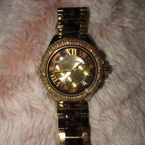 Michael Kors Gold/Leopard Watch